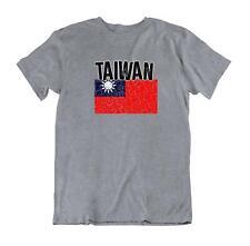 Flag T-Shirt Taiwan Fashion Country Souvenir Gift Tee Pride logo