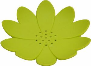 Evideco Bath Soap Dish Cup WATER LILY Solid Colors Green, purple, blue, gray....