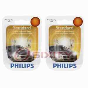 2 pc Philips Front Side Marker Light Bulbs for Lexus ES250 ES300 ES300h nk