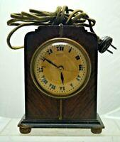 Vintage 1930s Hammond Bichronous Wood Case Shelf Mantle Clock - Parts Repair -
