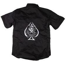 H15 Skull Westernhemd Stick Biker Rockabilly Metal Workerhemd Work Shirt 1/2