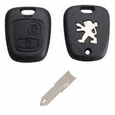 Peugeot 106 206 306 406 2 Button Replacement Remote Key Fob Case and NE73 Blade