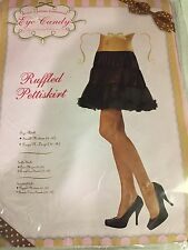 Ladies Black Pettiskirt Slip Rockabilly Theatre Costume Sm./Med. 6-10 NEW!