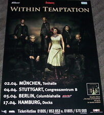 """WITHIN TEMPTATION """"The Heart Of Everything"""" Tour Poster GERMANY 2008"""