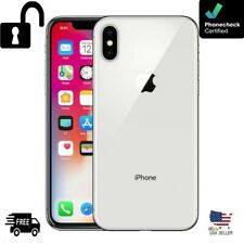 New listing Apple iPhone X - 64Gb - Silver (Unlocked) A1865 (Cdma + Gsm) Grade A- Excellent