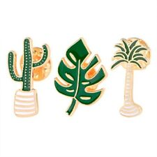Leaf Cactus Brooch Pin Fashion Jewelry 3 Piece/Set Lovely Alloy Coconut Tree