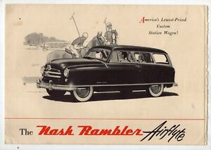 1950 Nash Rambler Airflyte Station Wagon Brochure