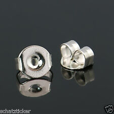 30 Stück Verschlüsse, Ohrmutter  für Ohrstecker - Ohrringe Silberfarben