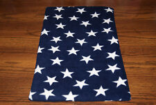 New Patriotic Stars Blue Fleece Dog Cat Pet Carrier Blanket Pad Free Shipp! Bcr