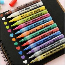 14 Colors STA Bright Color Metallic Acrylic Drawing Marker Pen Craft Scrapbook D
