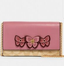 Coach Flap Belt Bag In Signature Canvas With Butterfly Applique MSRP $350