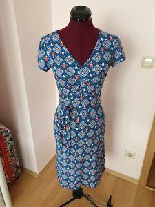 Blutsgeschwister Kleid sally tomato windmolen land neu mit Etikett XS blau rot