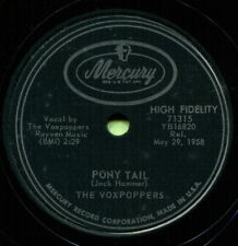 THE VOXPOPPERS (Pony Tail / Ping Pong Baby) R&B/SOUL 78  RPM  RECORD