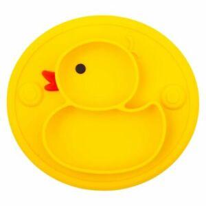 Baby Silicone Plate Set Self Feeding Anti Slip Suction Children Dish Tableware