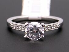 Scott Kay Platinum Round Diamond Engagement Promise Ring M1132 Semi Mounting