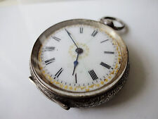 Vintage Decorative Ladies Sterling Silver  Pocket Watch