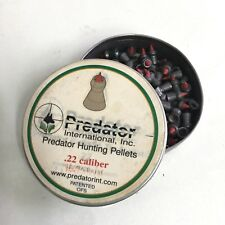 Collector Item Predator .22 Cal, 16.75 Grains, Pointed, 148ct Pellet Tin Hunting