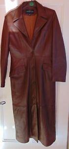 Manteau en cuir femme - taille L - vintage
