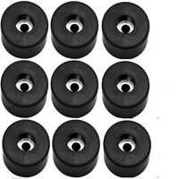 """Lot of 9 Recessed Rubber Feet Bumper 1 1/2"""" w * 3/4"""" h + metal washers built-in"""