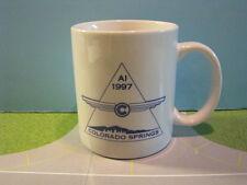 "AIRLINERS INTERNATIONAL ""COLORADO SPRINGS 1997"" GLASS CERAMIC COFFEE MUG"