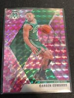 2019-20 Panini Mosaic Pink Camo Prizm Carsen Edwards RC Boston Celtics