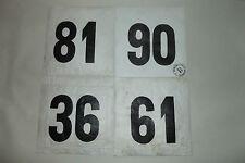 (27) 4 ANCIEN DOSSARD DE COUREUR CYCLISTE COURSE TOUR VÉLO BOURBOURG FRANCE 1970