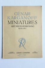 Noten.  Karganoff.  Sept Pieces Pour Piano.  Op.10.      Für Klavier.