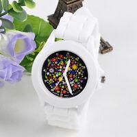 Fashion Silicone Rubber Jelly Gel Quartz Analog Sports Women Wrist Watch Stylish