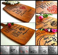 For Husband Wife Personalised Present Birthday Gift Cutting Board 30th 40th 50th