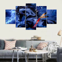 Native American Horse 5 Panel Canvas Print Wall Art