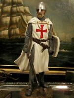 Hand Painted Medieval Crusader Knight With Axe Figure Gift 31 cm/12.20 ""