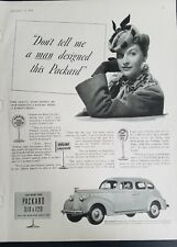 1939 don't tell me man designed this Packard 6 and 120 vintage car ad