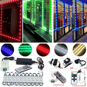 10FT~100FT 5050 SMD 3 LED Module Strip Light For STORE FRONT Window Sign Lamp US