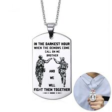 Men Dog Tag Necklace Personalized Stainless Steel Necklaces Soldier Man Jewelry