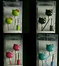 LOT OF 4 HELLO KITTY EARPHONES 3.5mm NOISE REDUCING EARBUDS EARPHONES