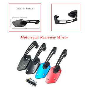 2pcs Motorcycle Rearview Mirror Modified Parts Reversing Reflector kit universal