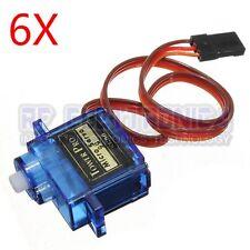 6X TowerPro SG90 Mini Gear Micro Servo 9g