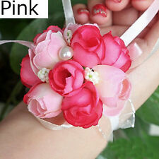 Sisters Bridesmaid Wedding Bridal Prom Wrist Corsage Hand Flower Bracelet Decor