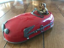 Antique 1930 Lindstrom Tin Wind Up Skeeter Bumper Car Toy with Drivers