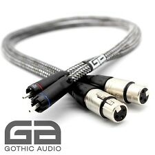 ULTIMATE 1m Pair XLR Balanced Female to RCA Pure Silver Interconnects KLE RCA's