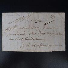 1685 LETTRE COVER ROUEN POUR REIMS PAR PARIS RARE COMBINAISON PORT PAYÉ PORT DU
