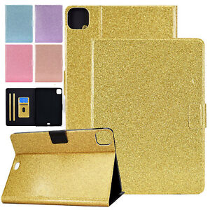 """Glitter Magnetic Leather Wallet Case For iPad Mini 6th Gen 8.3"""" 2021 Bling Cover"""