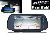 7 inch Car Rearview Mirror Monitor DVD VCR VCD For Backup Camera HD wide Screen