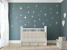 Retro Starbursts Vinyl Wall Decals, Confetti Sparkle Stars Starburst decal
