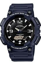 Casio AQS810W-2A2 Mens Tough SOLAR Watch Blue World Time 5 Alarms 100M WR
