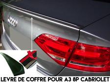 LAME SPOILER COFFRE ADHESIF pour AUDI A3 8P CABRIOLET 2008-2013 SLINE S3 QUATTRO