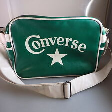 Alte Converse Sportasche Umhängetasche grün um/ab 1975 (44136)