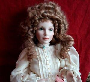 Franklin Mint Heirloom Porcelain Collection Sitting Doll