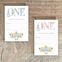 BIRTHDAY INVITATIONS BLANK PETER RABBIT 1ST BIRTHDAY PINK OR BLUE PACKS OF 10
