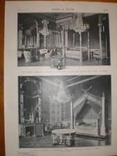 Napoleon I and Josephine bedrooms Compiegne France 1901